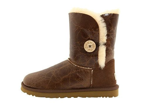 UGG Bailey Button Krinkle 1872 Laarzen(chestnut) [UGG 1872 001] - €