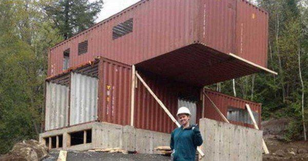 elle a achet quatre containers mtalliques et les a transforms pour construire une maison absolument sublime - Les Materiaux Pour Construire Une Maison
