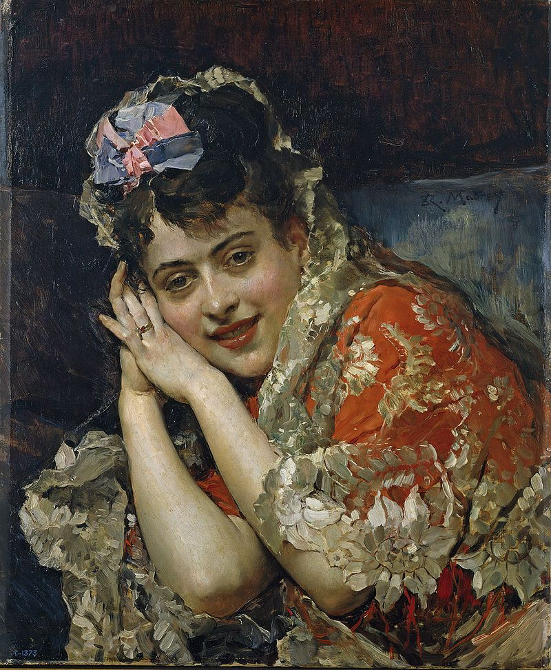 Raimundo de Madrazo: The Model Aline Masson with a White Mantilla 1875