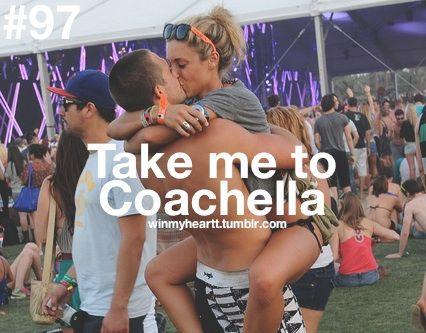 YES! YES! YES! OH HECK YES!!!!!! I've ALWAYS been DYING to go to Coachella!!!!!