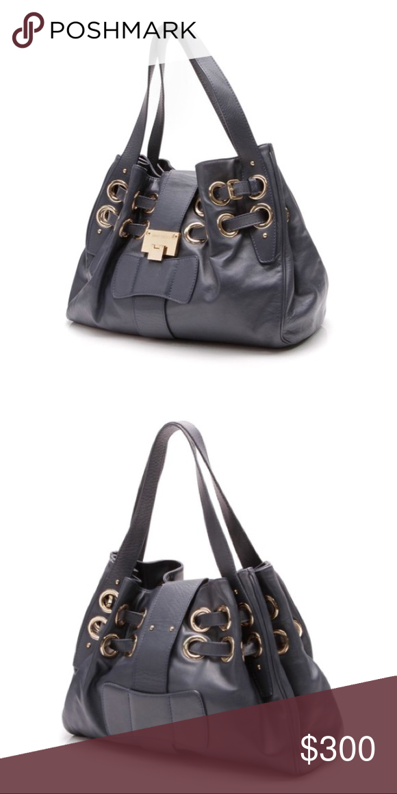 Jimmy Choo Ramona Navy Blue Leather Hobo Bag I bought this authentic Jimmy  Choo bag in 979dfd22d6