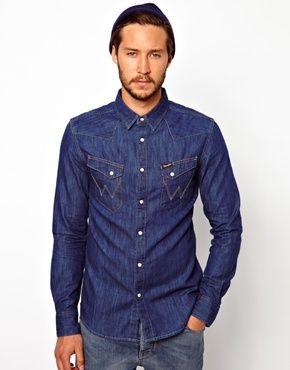 1370d546 Wrangler jeans shirt   Miesten juttui   Wrangler denim shirt, Denim ...