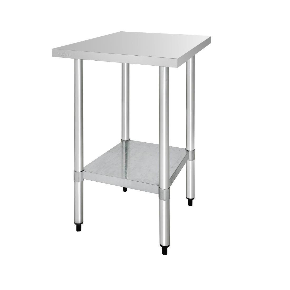 Vogue Stainless Steel Table Without Upstand 700 D Mm Steel Table Stainless Steel Table Stainless Steel Prep Table