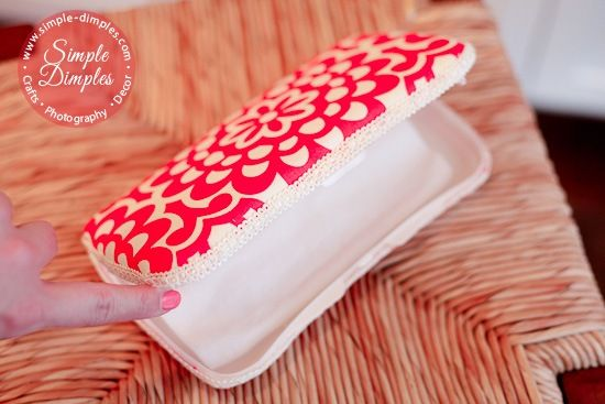 fabric-covered baby wipes container - what about a slipcover for the wipes container? or something like the tampon wallet that holds the wipes container and rash cream, etc?
