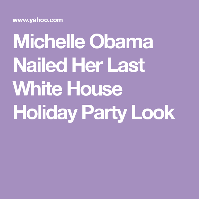 Michelle Obama Nailed Her Last White House Holiday Party Look