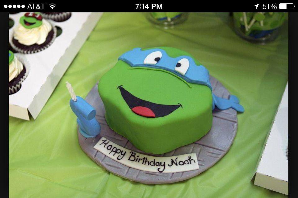 Superb Leonardo Tmnt Cake Ninja Turtles Birthday Party Teenage Mutant Funny Birthday Cards Online Aeocydamsfinfo