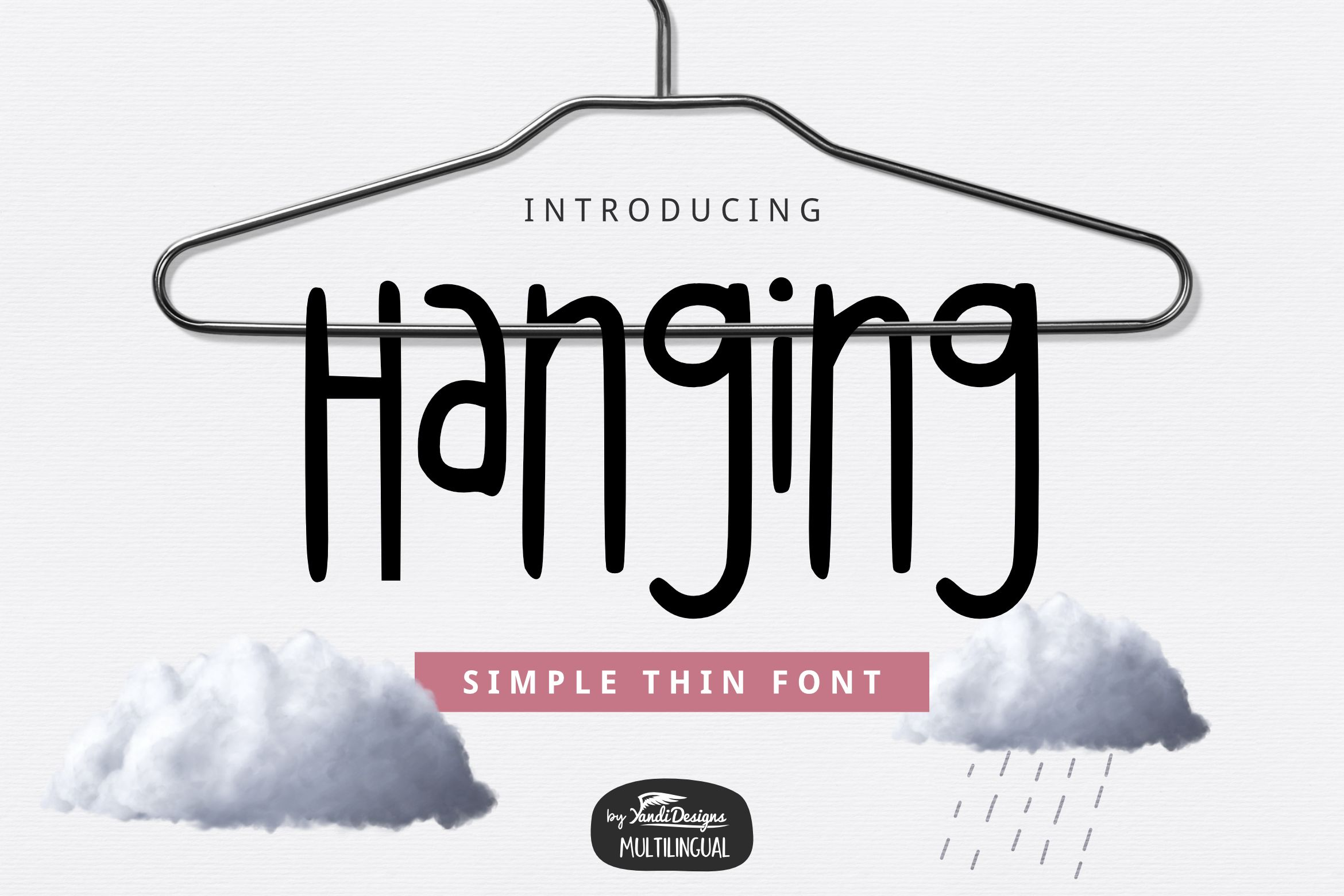 Hanging (Font) by YandiDesigns · Creative Fabrica in 2020