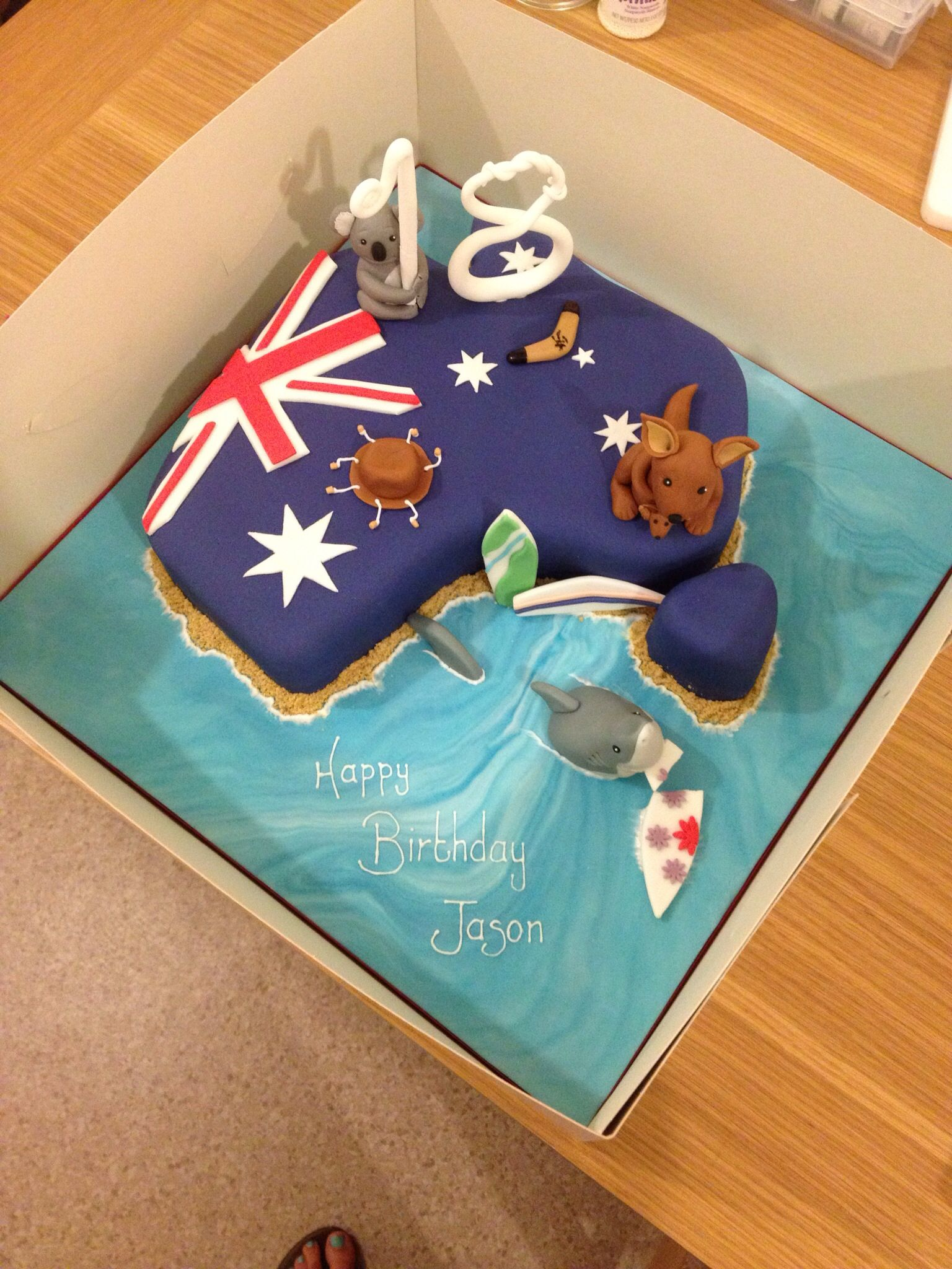 Australia Themed 18th Birthday Cake Occupation Cakes