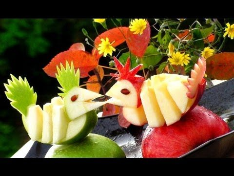 ItalyPaul - Art In Fruit & Vegetable Carving Lessons: Learn How to quickly Cutting Apple into Birds   Apple Art   Party Garnishing   Vegetable and Fruit Carving Free Lessons © Original works The Art of ItalyPaul Carving