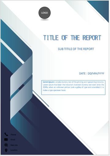 Cover Page Folded Blue Stripe Cover Page Cover Pages Cover Page Template Word Book Cover Template Cover Page Template