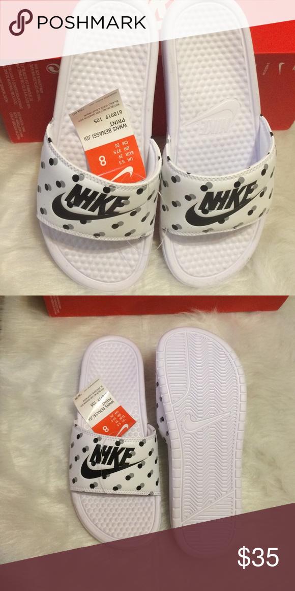 Women's Nike benassi jdi print polka dots size 8 New Nike Shoes Sandals