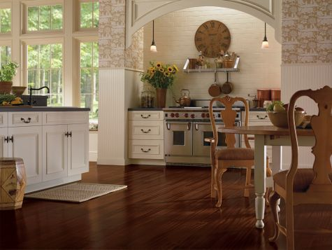Kitchen Flooring Idea : African Mahogany Burnished Sable By Armstrong Hardwood  Flooring