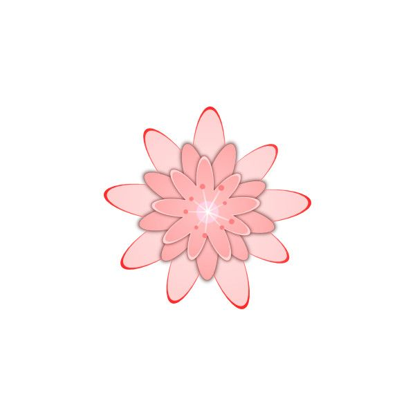 Pink Flower 15 clip art ❤ liked on Polyvore