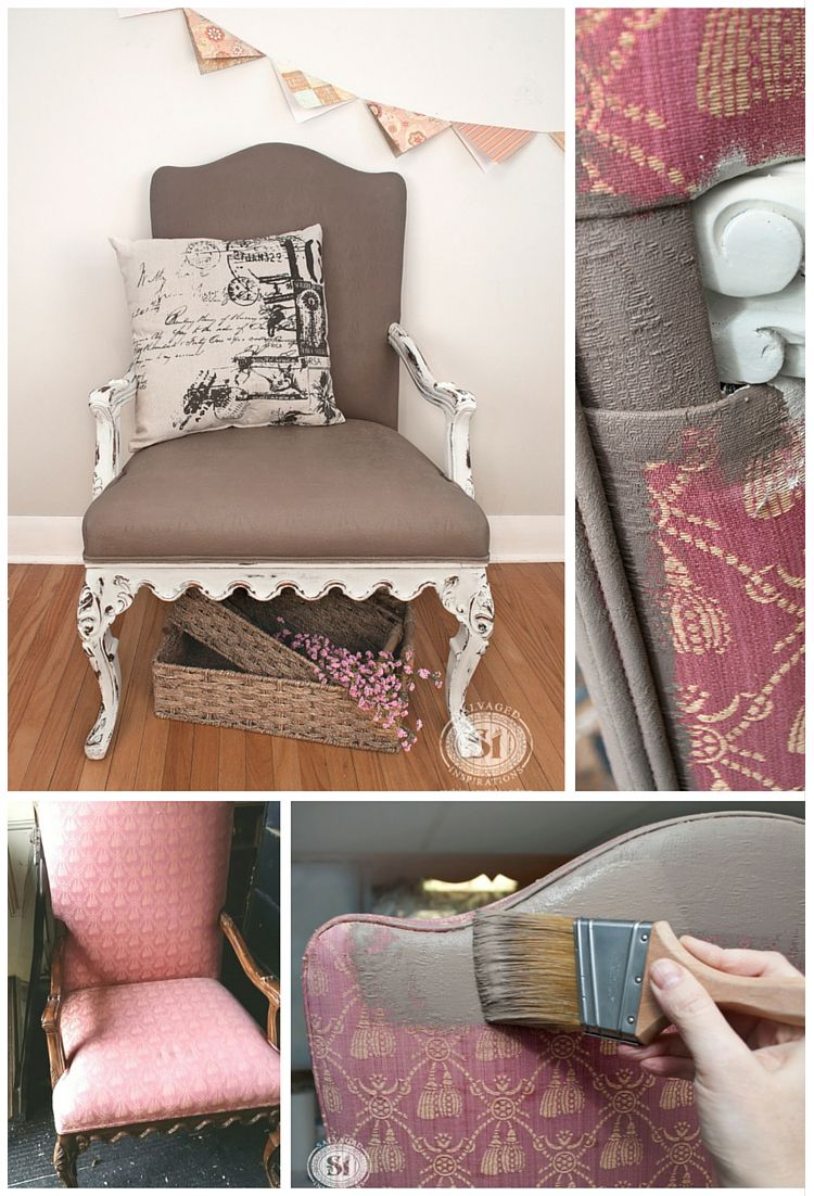 Painting Fabric With Chalk Style Paints: Granny Chair