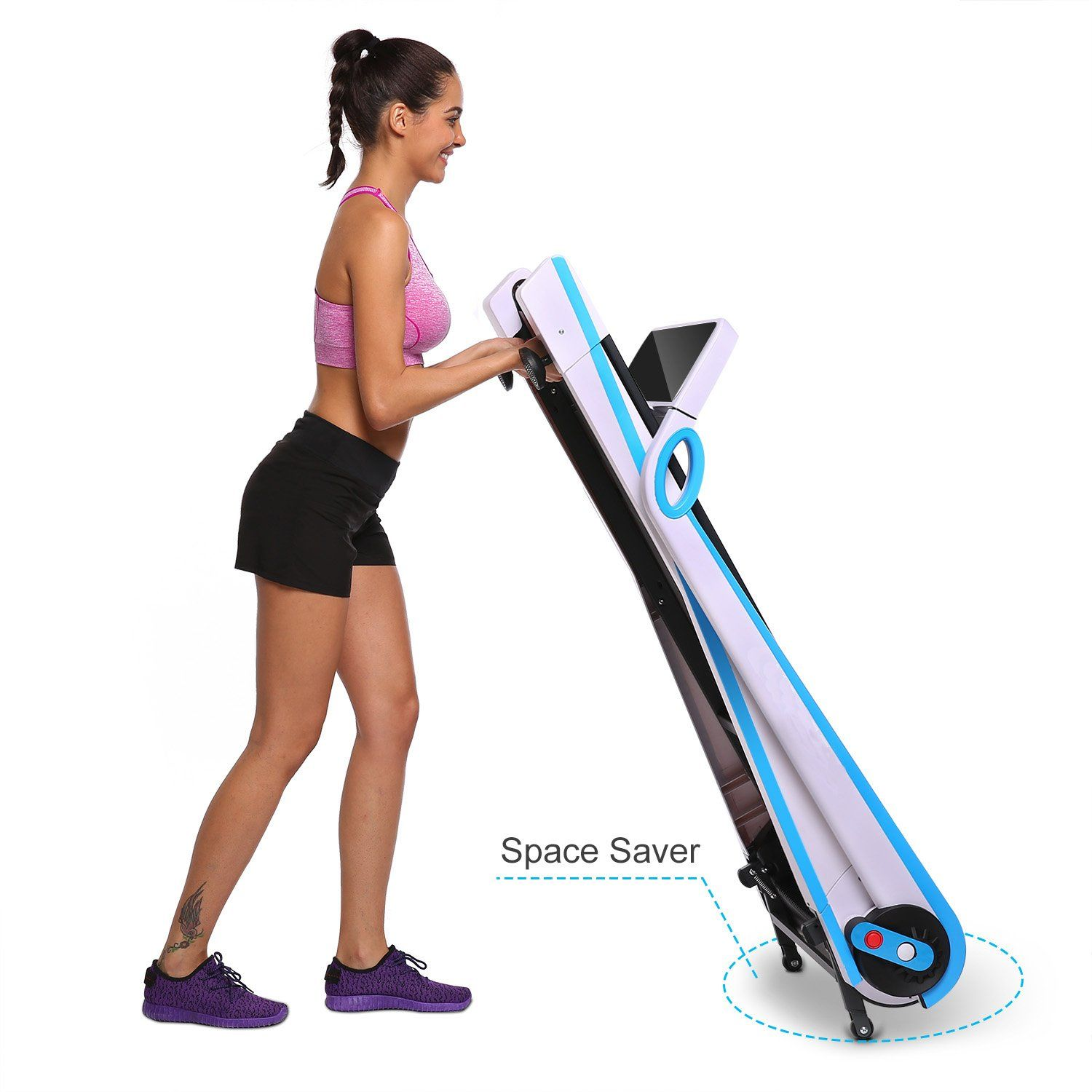 Moroly Fitness Folding Electric Treadmill Exercise