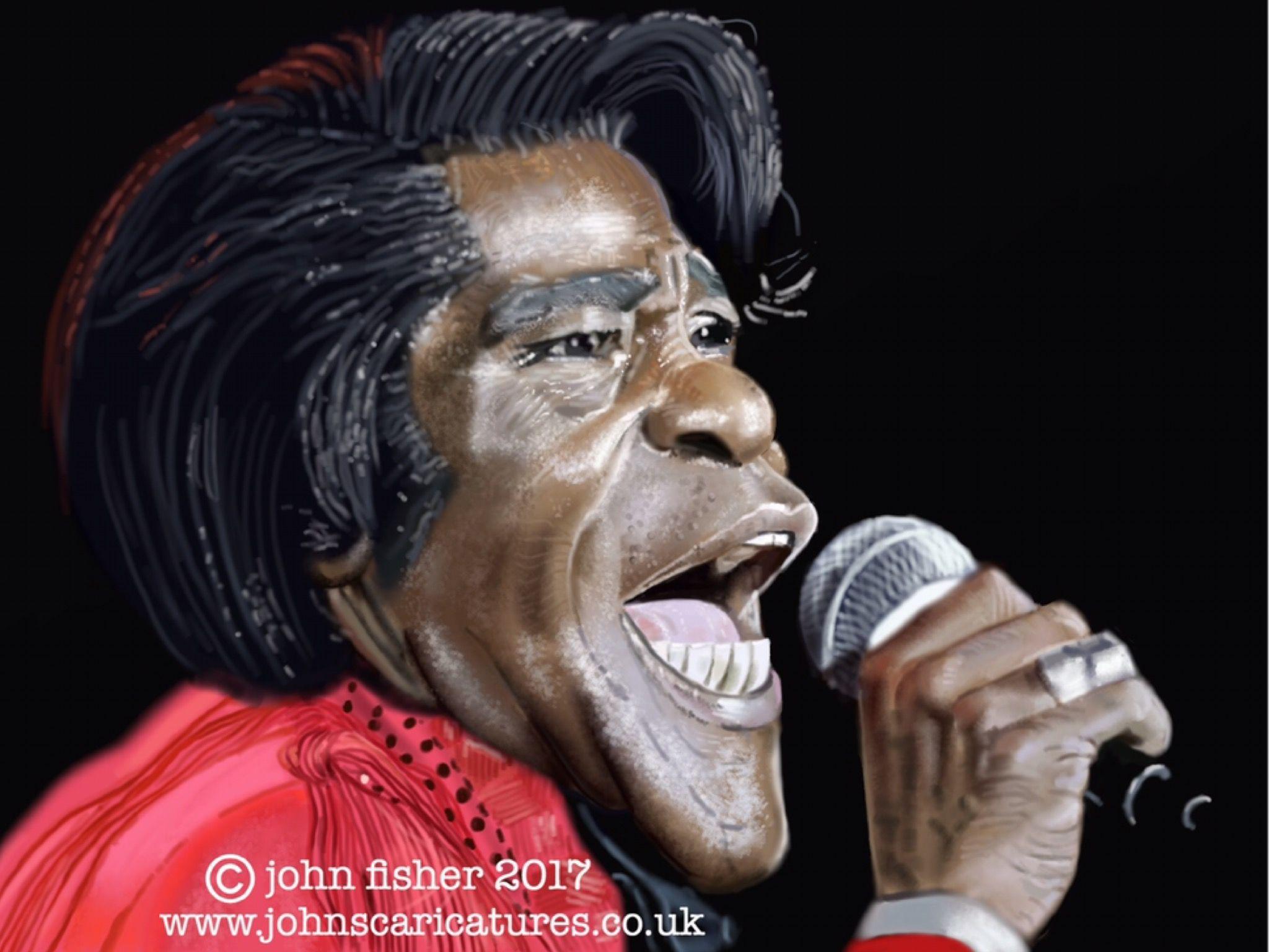 James brown celebrities caricatures u paintings pinterest