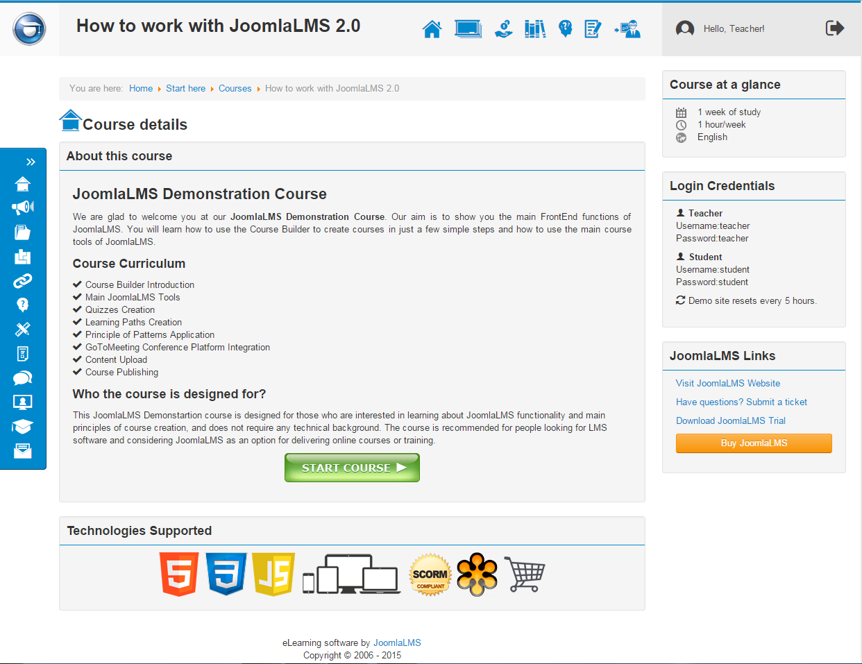eLearning solution development project - PHP LMS on Joomla!