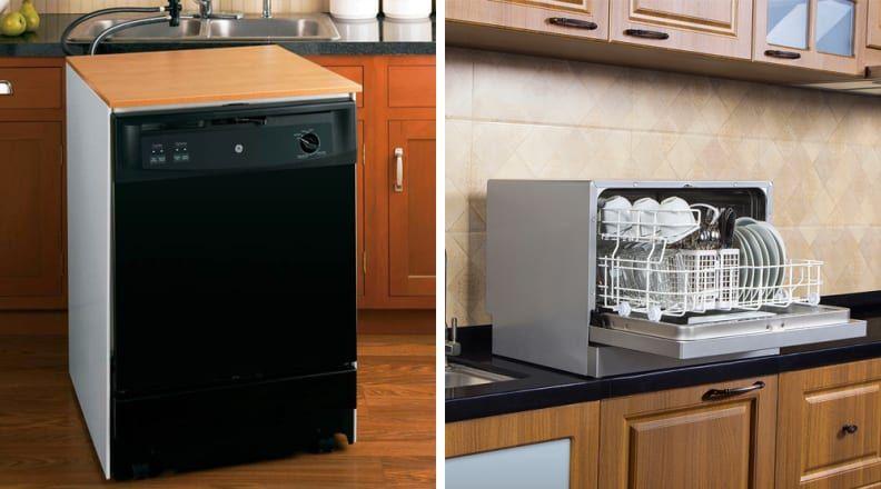 Ge Gpt225sslss Portable Dishwashers Portable Dishwasher Dishwasher