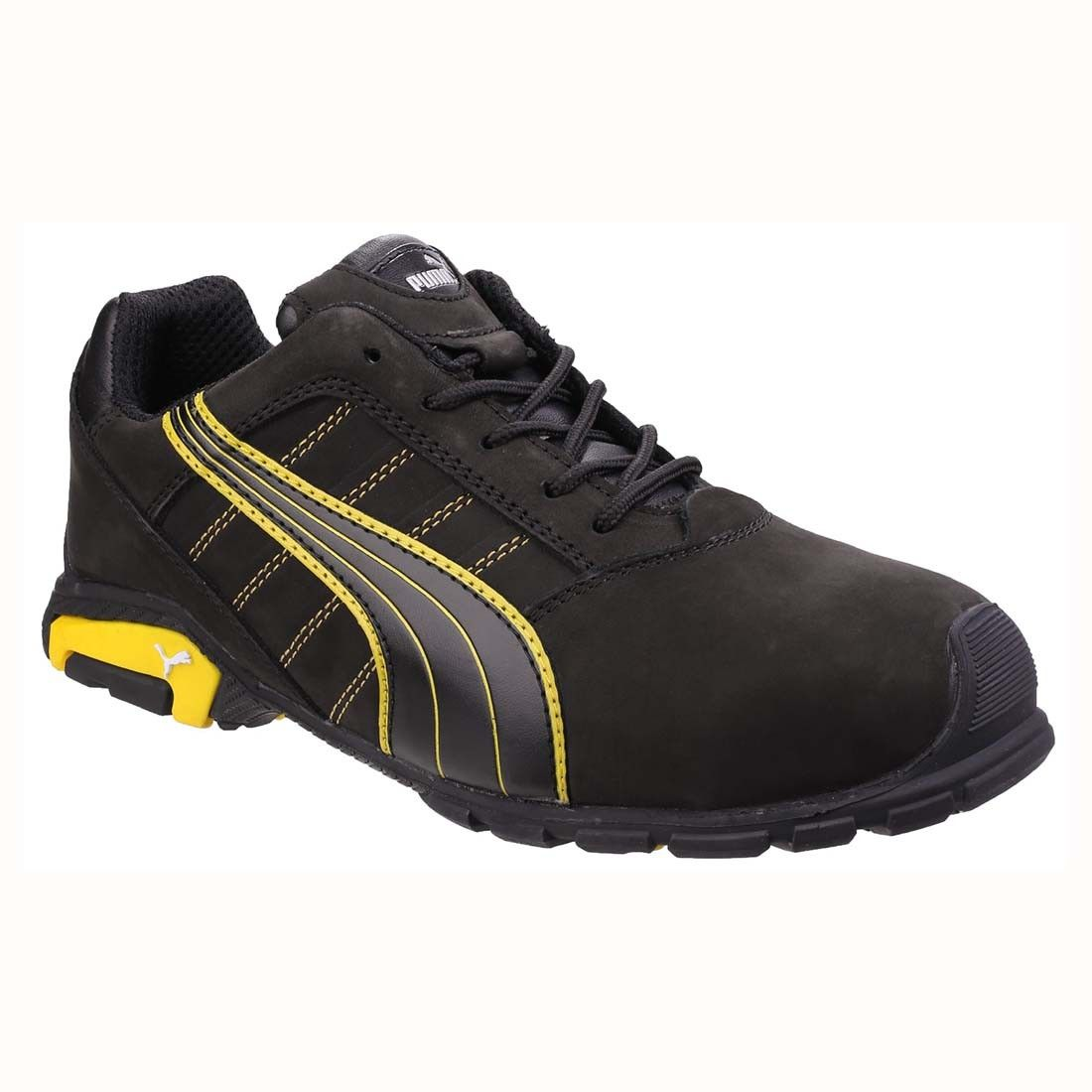 f54295fc309e Puma Amsterdam Low S3 Water Resistant Black Leather Mens Safety Trainers