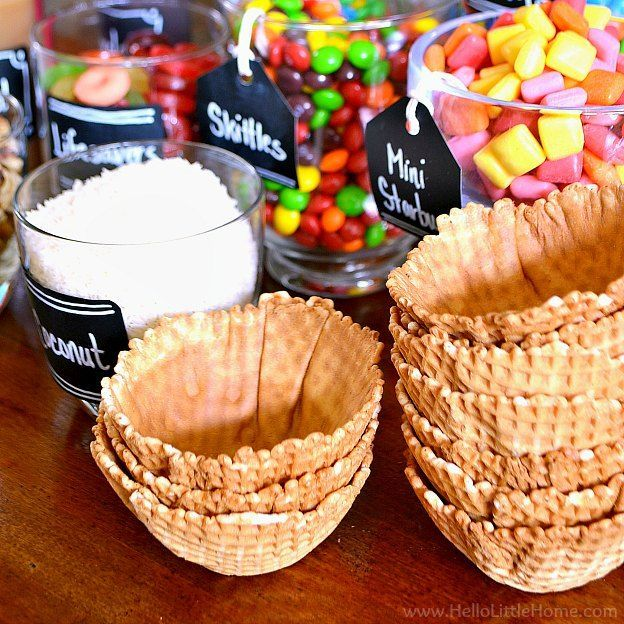 to Set Up a DIY Ice Cream Sundae Bar DIY Ice Cream Sundae Bar - Tips, Toppings + More | Hello Little HomeDIY Ice Cream Sundae Bar - Tips, Toppings + More | Hello Little Home