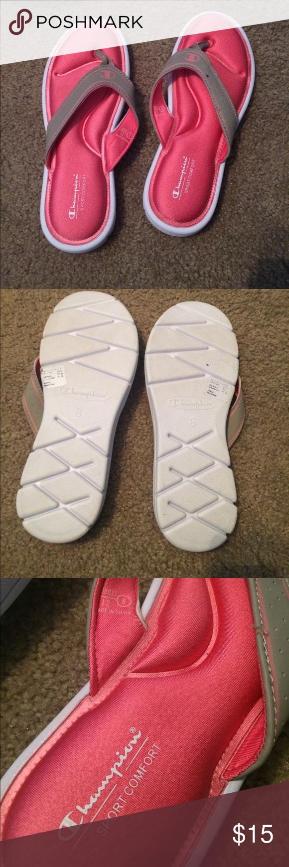 76363cffb63 Champion sport comfort flip flops Pink sport comfort sandals. Worn once  with little damage. Fits true to size. Champion Shoes Sandals