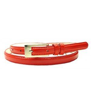 "0.5"" Wide Red Narrow Dress Lady's Belt"