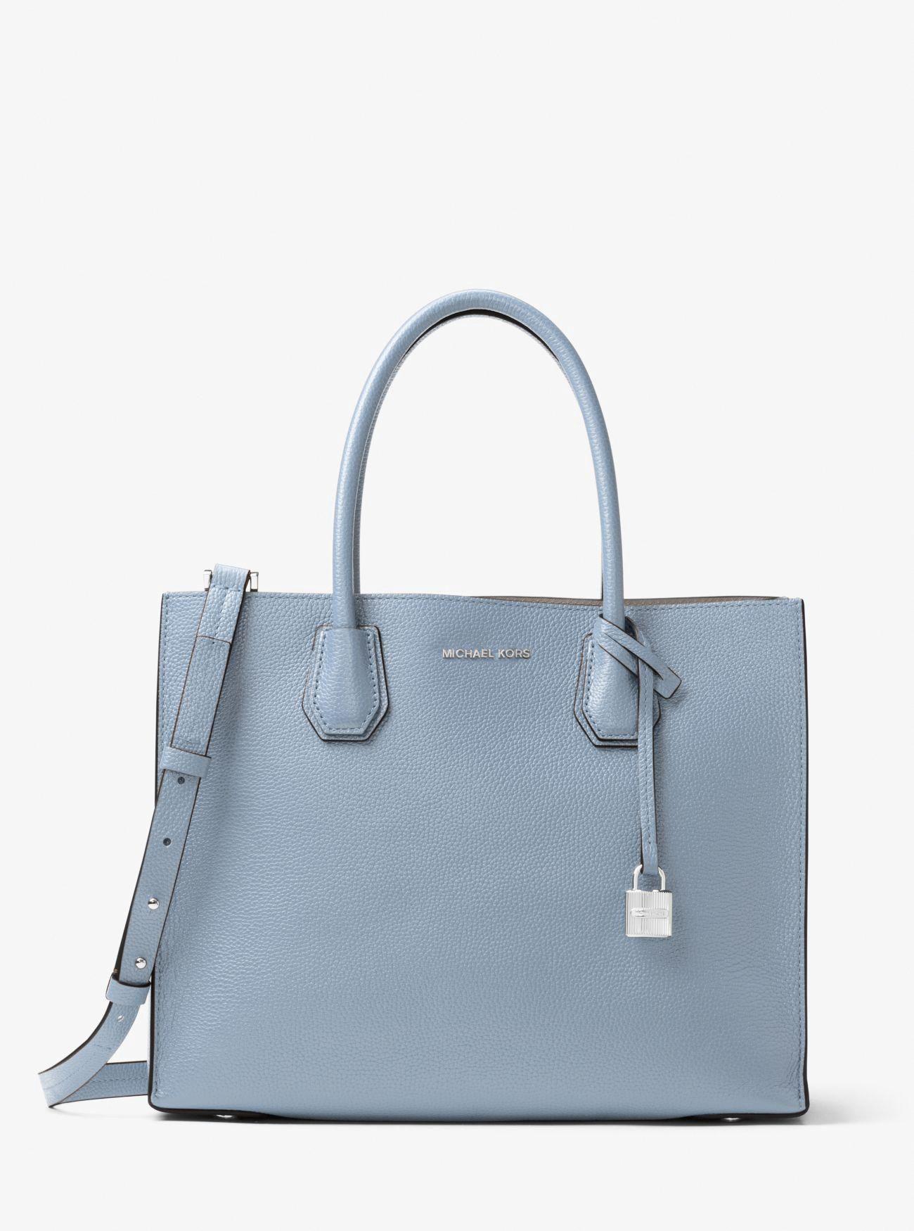 153efbe3b73c Michael Kors Mercer Large Leather Tote - Optic White  Handbagsmichaelkors