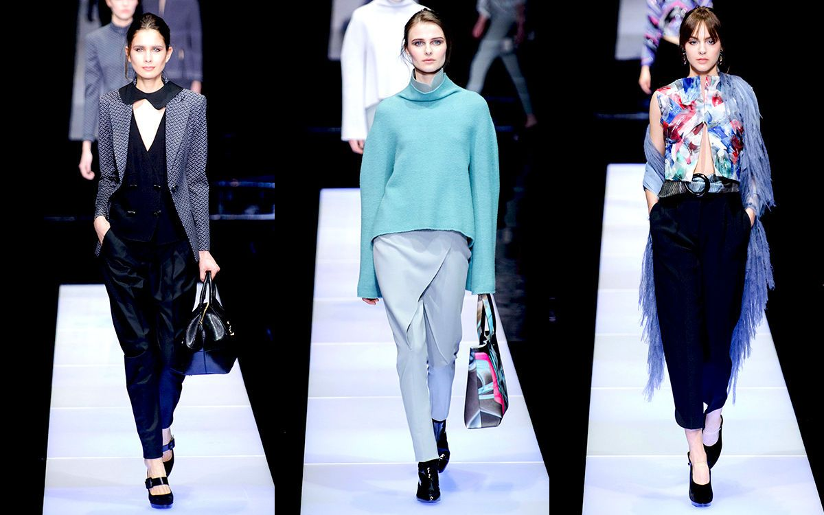 Giorgio Armani Fashion Week Mailand Herbstwinter 201516