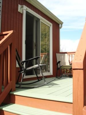 Behr California Rustic And Woodland Green Deck Colors