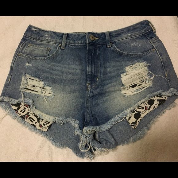 H&M-Divided Mickey Mouse Jean Shorts