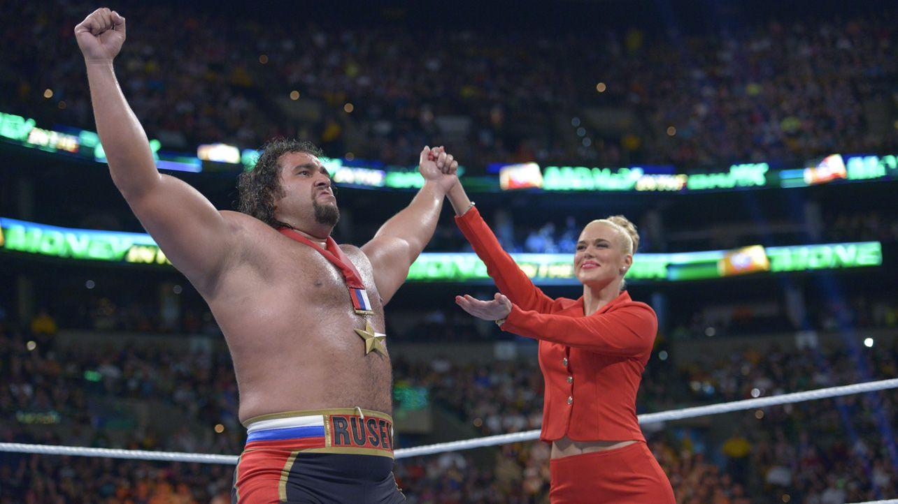 Money in the Bank 2014: Big E vs Rusev | Wwe money, Money in the ...