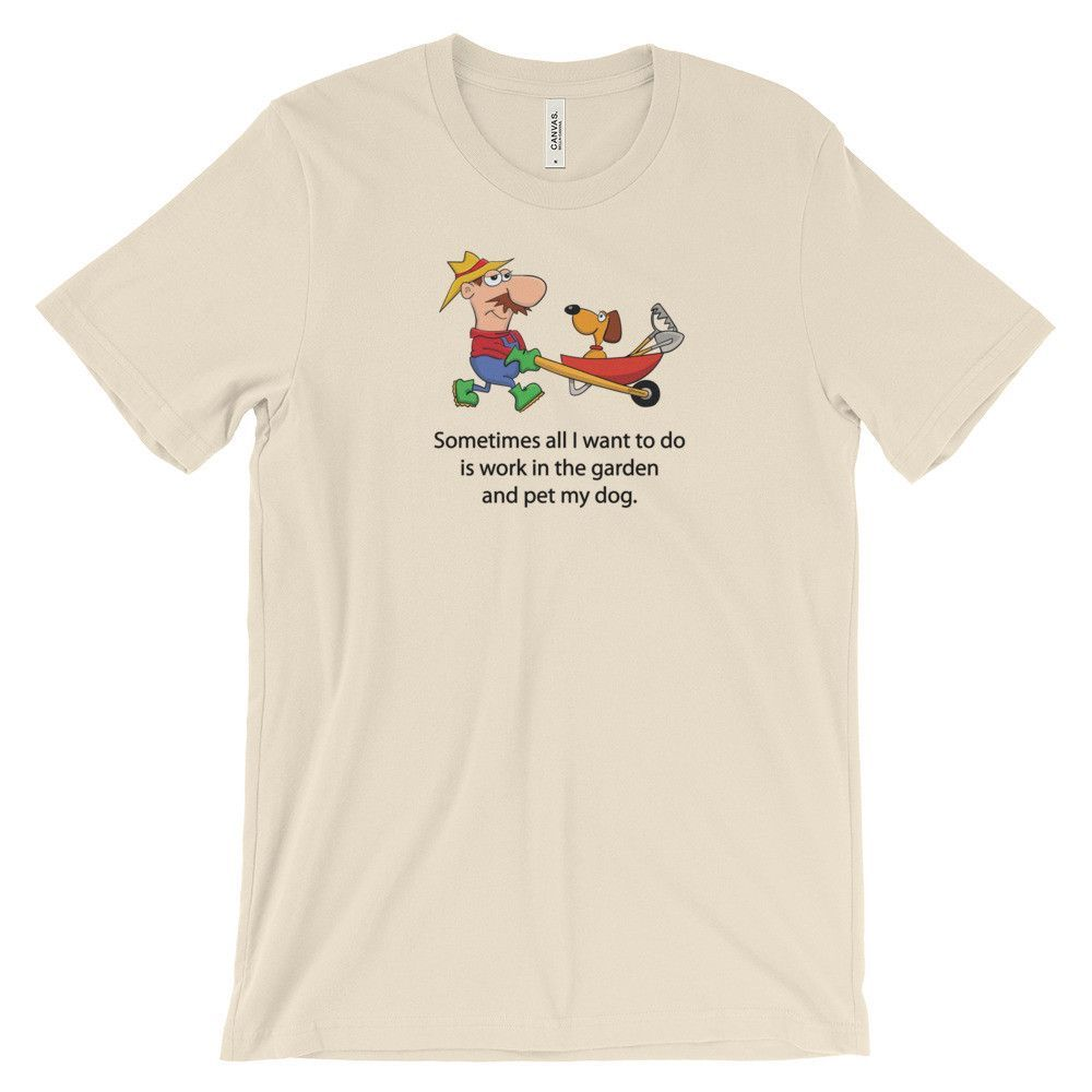 A Dog and His Farmer - Unisex Short Sleeve T-Shirt