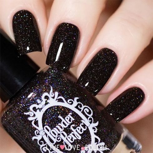 If there is black, there is no turning back - gorgeous black nail polish art - fashion, jewelry, ma
