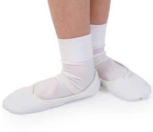Boys White CANVAS Ballet Shoes - Pre