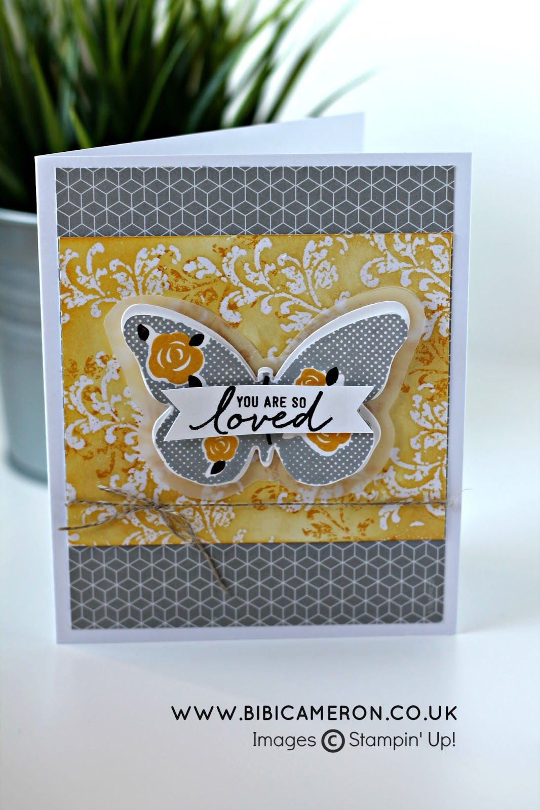 Ironoff embossing timeless textures floral wings stampinu up