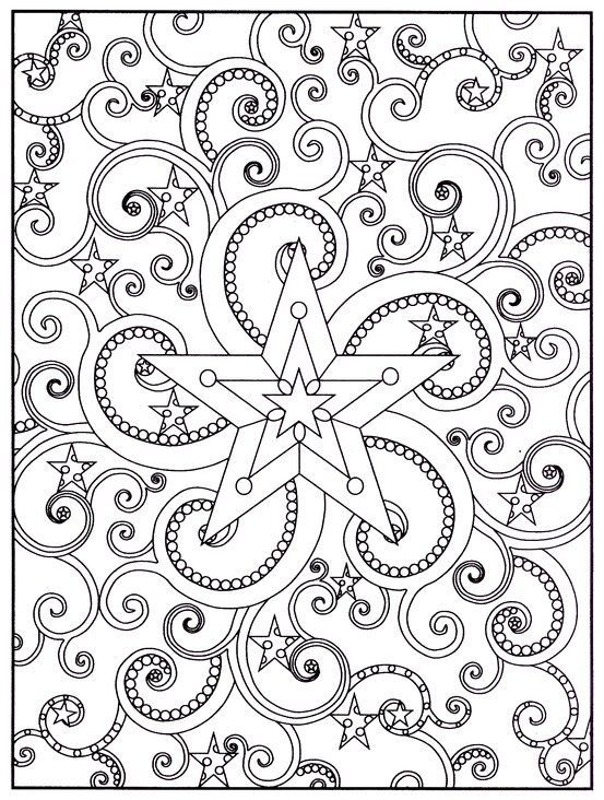Out of This World Stained Glass Coloring Book, Dover Publications ...