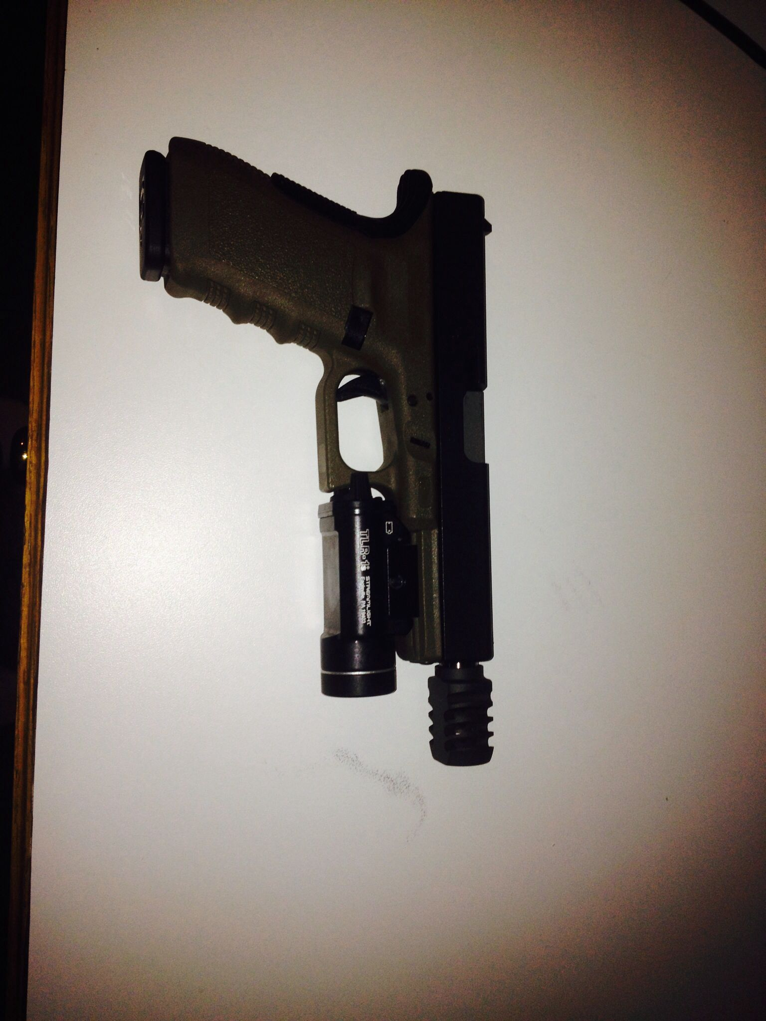 Glock 21 460 Rowland, compensator and stream light TLR-1s