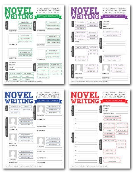 Novel Writing Brainstorming Templates V By Rhinoandasmallbird