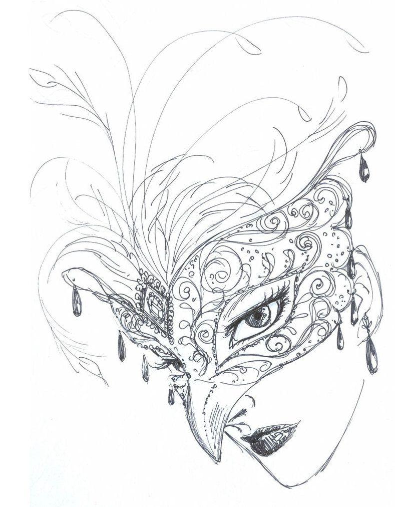 mask rough sketch by aruarian dancer on deviantart venetian