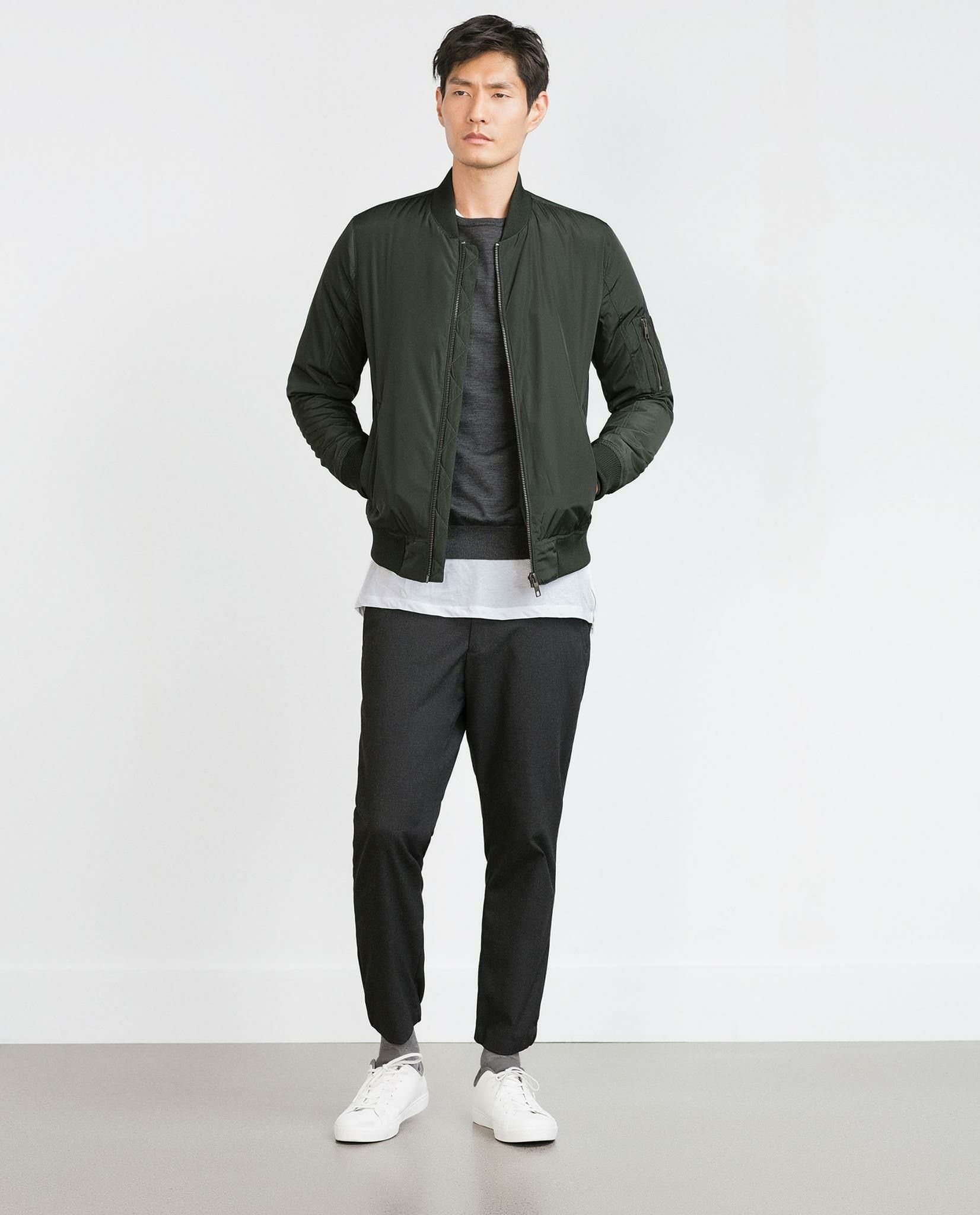 ZARA BOMBER JACKET WITH QUILTED LINING Size S M L