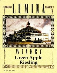 Lumina Winery green apple riesling, Wilmington, NC