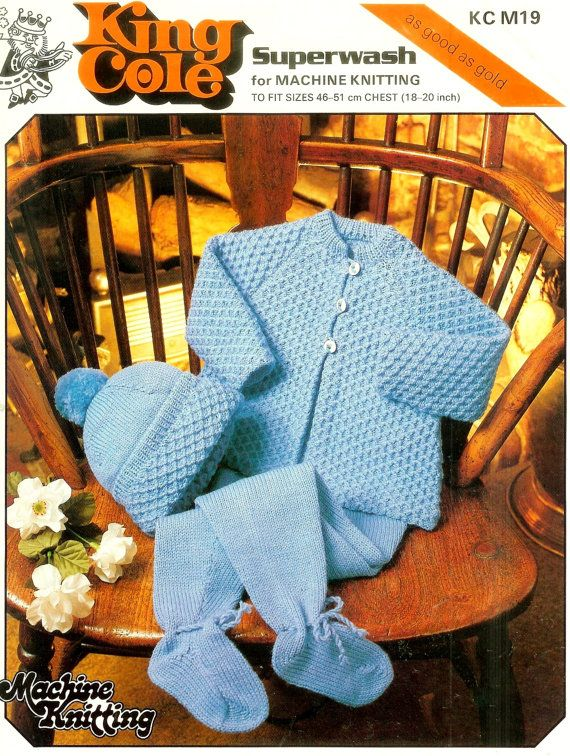 Pdf Machine Knitting Pram Set 18 20ins C 19 Vintage Baby
