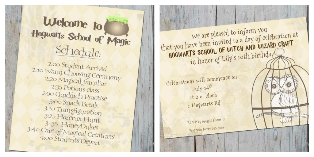 Harry Potter Inspired Invitation Hogwarts Pinterest Harry
