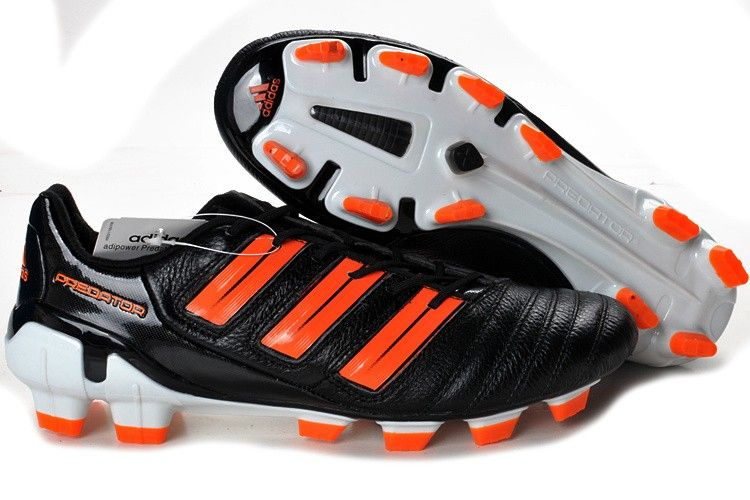 factory authentic dc6a0 3d912 Adidas Predator 2012 XI TRX FG Soccer Shoes Black Orange