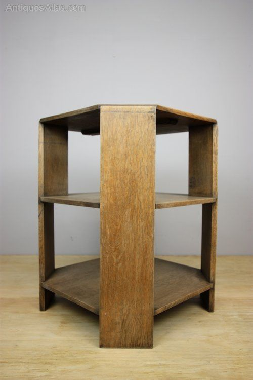 1930's Octagonal Oak Book Coffee Table By Heals. - Antiques Atlas