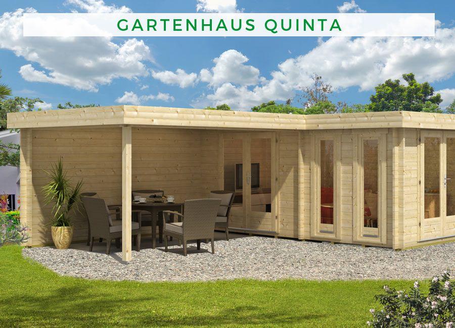 Flachdach Gartenhaus Modell Quinta 44 Iso Flachdach Gartenhaus Gartenhaus Gartenhaus Mit Terrasse