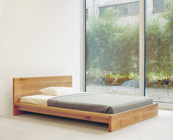 Solid Wood Bed Mo By Philipp Mainzer Www E15 Com E15 Oak
