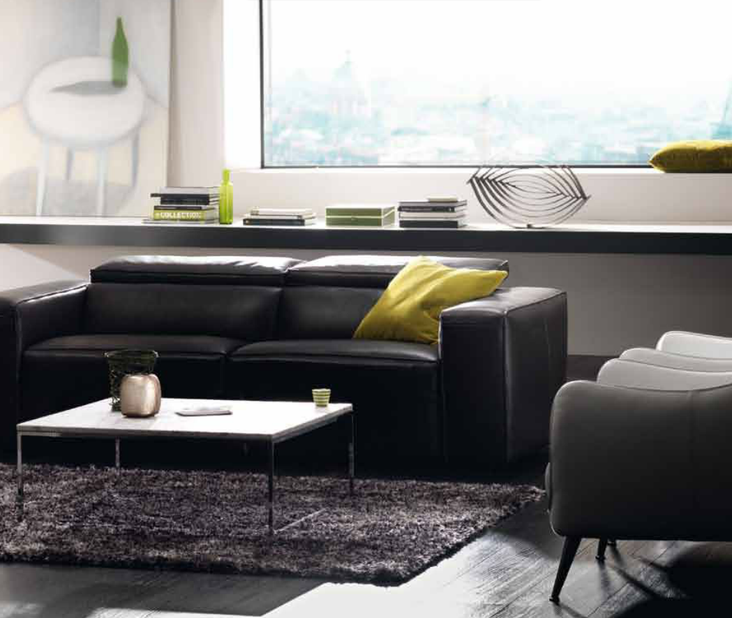 Beautiful Natuzzi   Another Black Sofa With A White Table. I Like Low Profile  Furniture. Awesome Design
