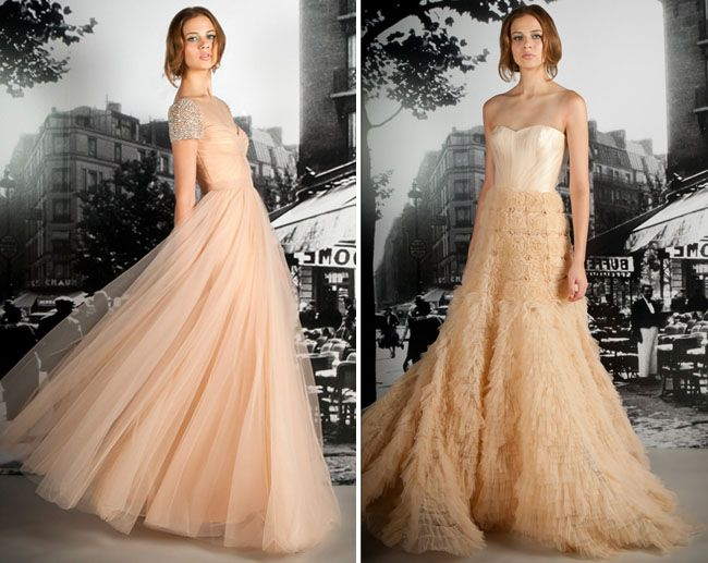 Wedding dresses with a touch of color blush wedding dresses wedding dresses with a touch of color junglespirit Images