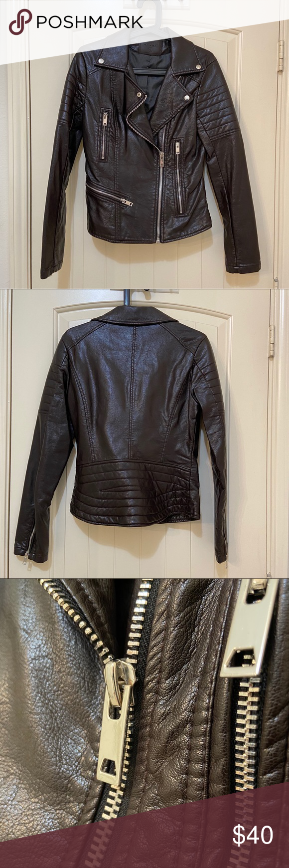 BlankNYC faux leather brown jacket size S in 2020 Brown